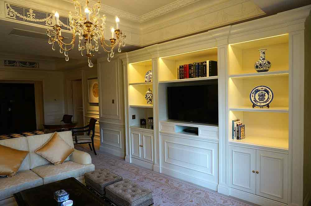 2016温馨美式实用电视背景墙装修布置