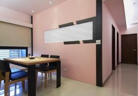 粉嫩甜美现代风格餐厅环境装饰布置