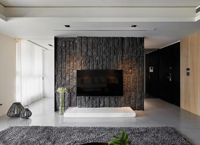 沉稳个性现代风格电视背景墙装修设计