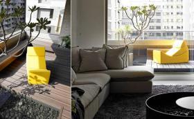 休闲轻松现代风格阳台装潢布置