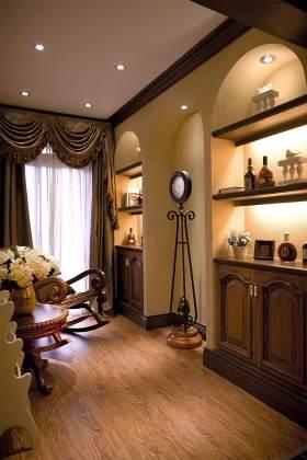 大气高贵美式风格酒柜装修案例精选