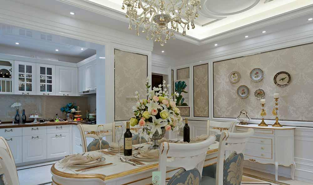 优雅大方欧式餐厅设计效果图
