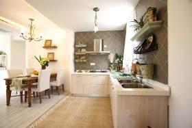 休闲自然田园风厨房开放式设计