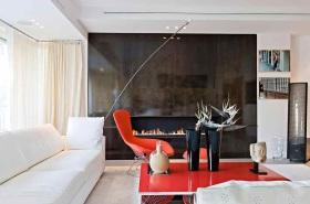 亮丽时尚简约风格背景墙设计装潢