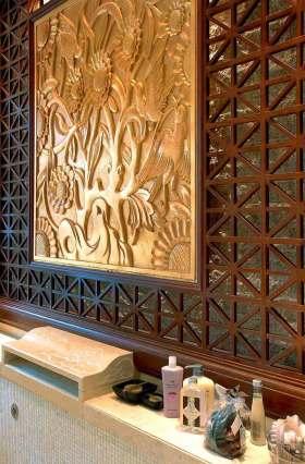 雕花时尚复古风背景墙图片