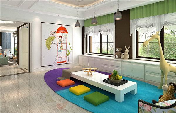 可爱现代风格客厅装饰