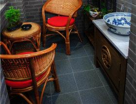 古朴中式阳台装潢展示