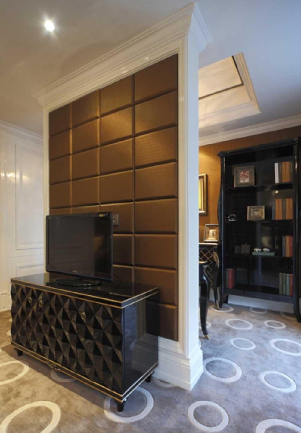 简欧时尚电视背景墙设计