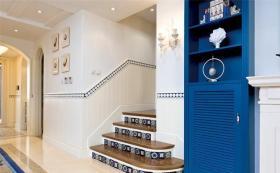 地中海雅致楼梯装潢设计