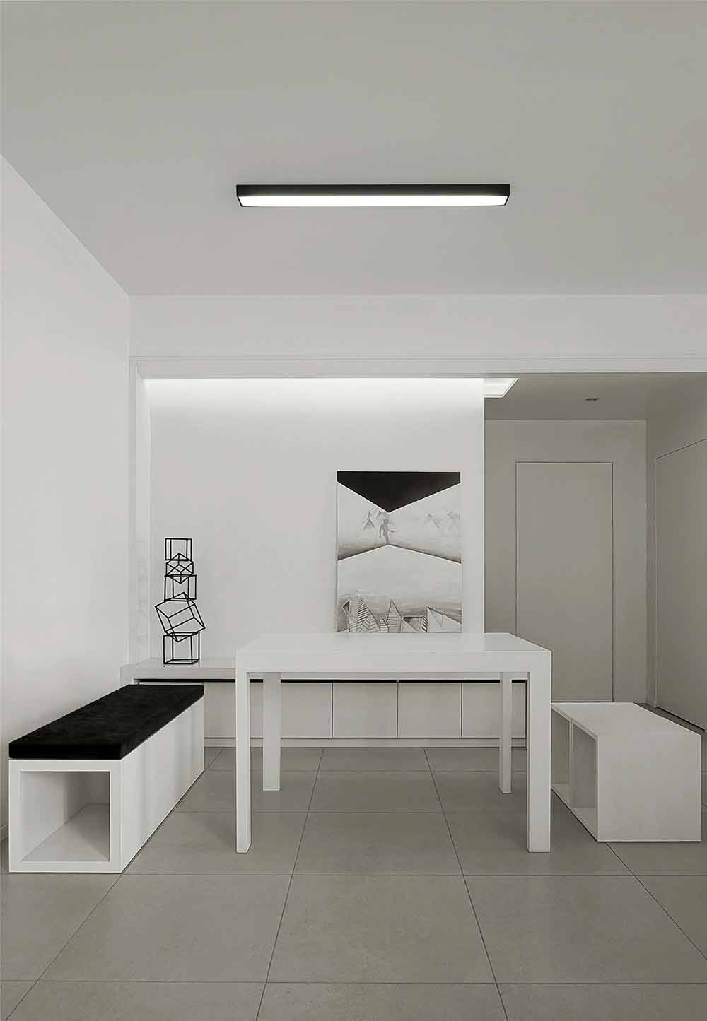 黑白極簡主義風格兩居室裝修案例