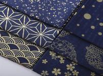 蓝印花布的图片