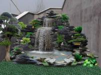 假山喷泉图片
