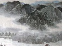 泼墨山水画的图片