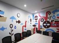 办公室墙画图片