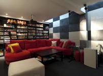 地下室书房图片