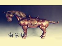 唐三彩马图片