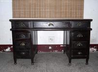 红木办公桌图片