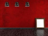 黑红色装修图片