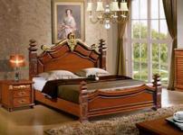 欧情家居实木床的图片