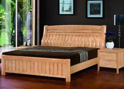 双叶实木床