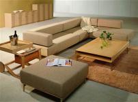 曲美实木沙发的图片