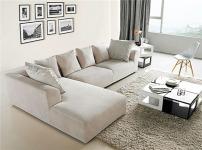 红点布艺沙发的图片