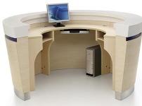 卧室弧形书桌的图片