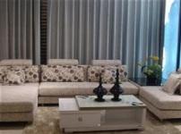 蓝天布艺沙发的图片