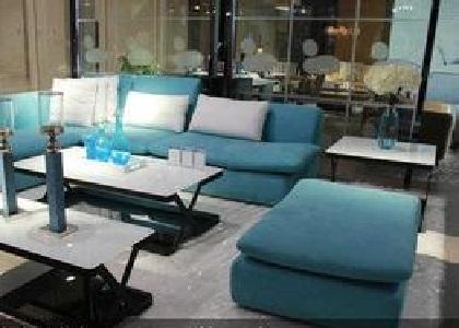 蓝天布艺沙发