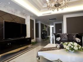 简欧风格客厅吊顶装修效果图-简欧风格最新欧式电视背景墙图片