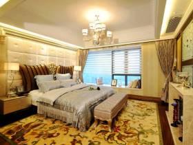 欧式风格卧室背景墙装修图片-欧式风格浴床尾凳片