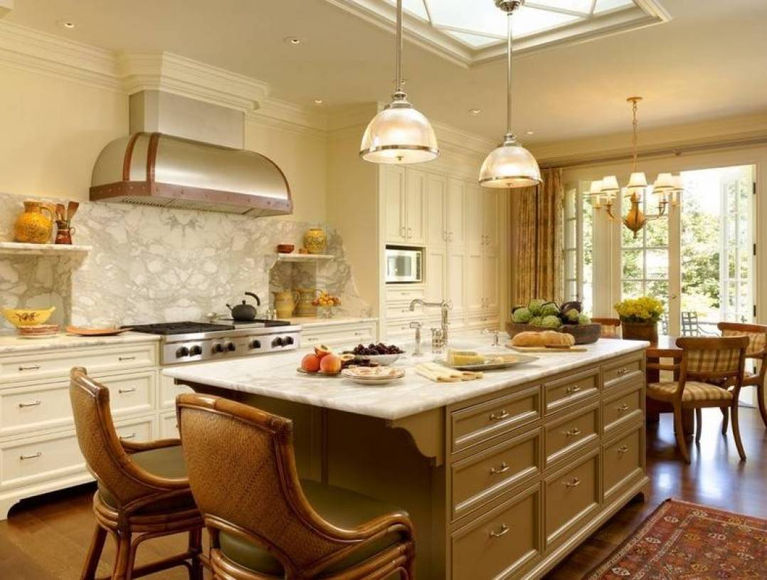 欧式风格三居室开放式厨房装修效果图