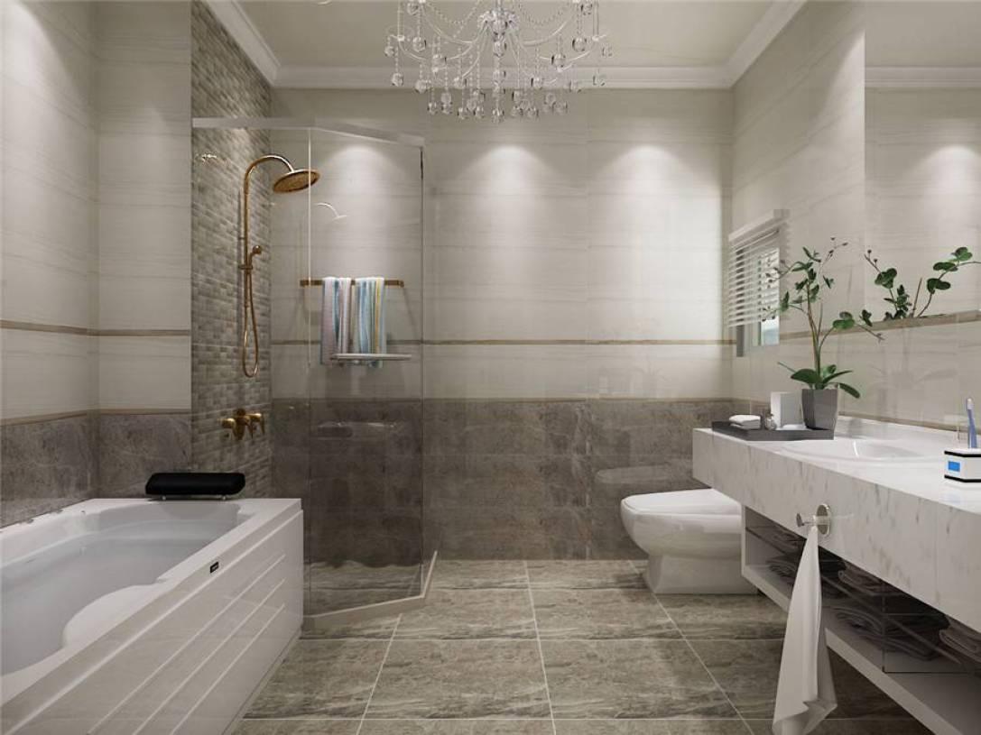 小空间卫生间瓷砖背景墙装修效果图