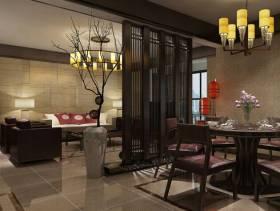 新中式风格客厅餐厅隔断装修效果图-新中式风格餐椅图片