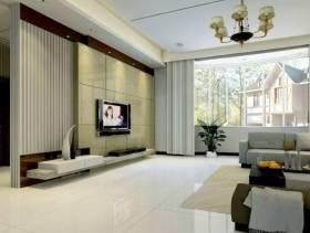 简欧风格二居室客厅玄关装修效果图