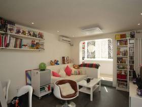 现代风格小户型客厅背景墙装修图片-现代风格茶几图片