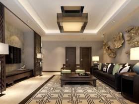 创意艺术性客厅沙发背景墙面装饰装修效果图