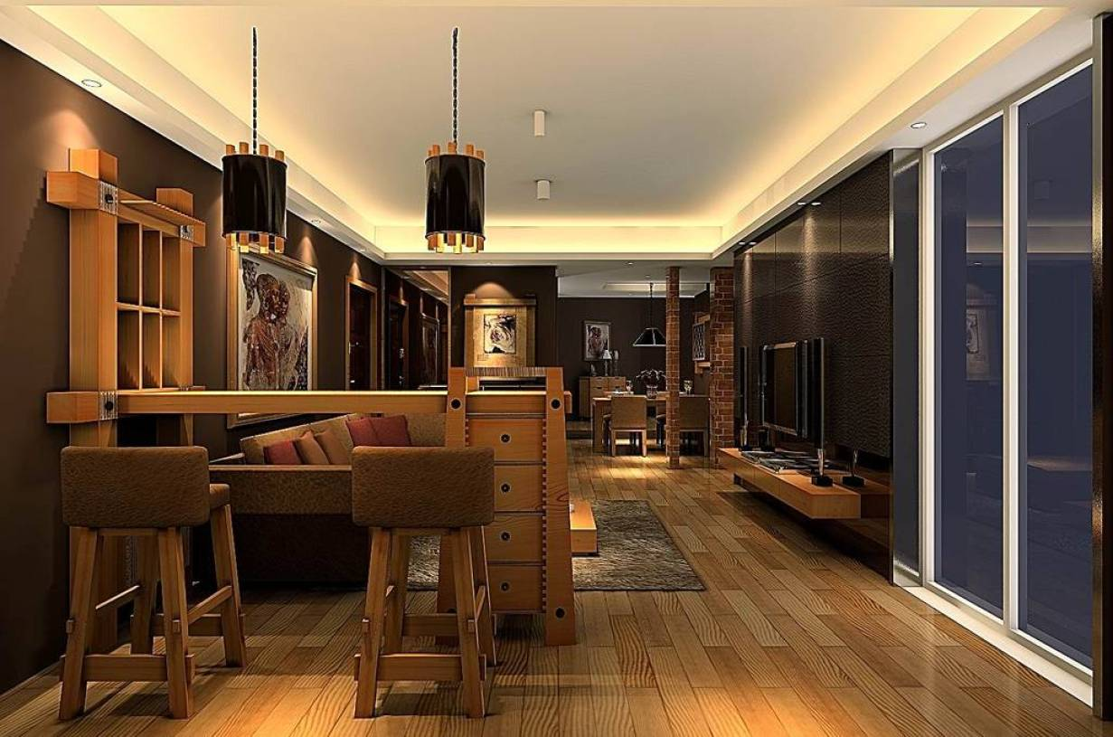 后现代客厅装修图  装饰e站通现代风格装修效果图大全2019图片,来自