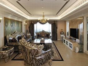 330平方米法式古典客厅装修效果图