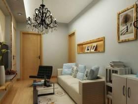 现代风格小户型客厅沙发背景墙装修效果图-现代风格沙发图片