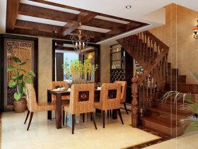 法式浪漫风格三室两厅公寓装修效果图