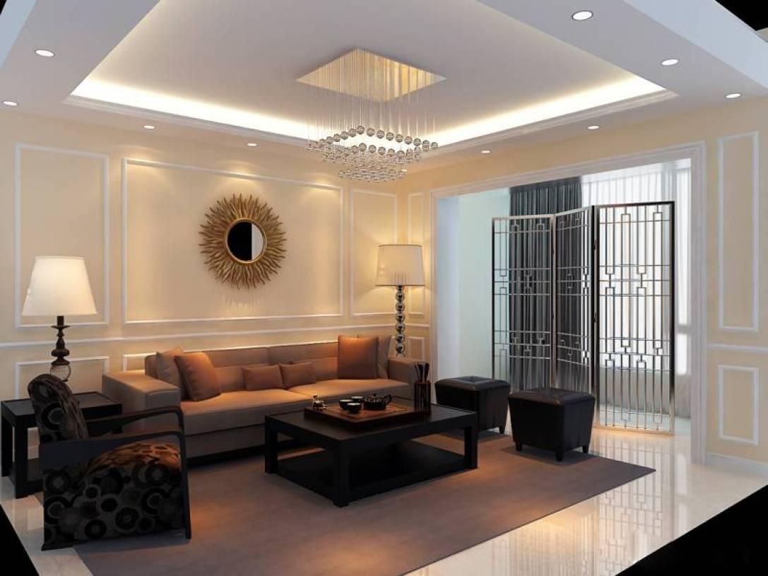 简约风格客厅天花吊顶装修效果图-简约风格沙发图片图片