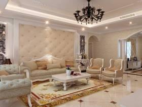 欧式风格小户型客厅吊顶装修图片-欧式风格沙发椅图片