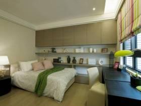 简约风格女生卧室装修图片-简约风格床图片