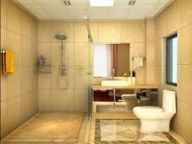 217㎡四居室简欧风格卫生间淋浴房装修效果图