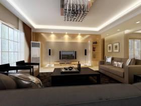 现代简约风格客厅瓷砖背景墙装修效果图-现代简约风格茶几图片