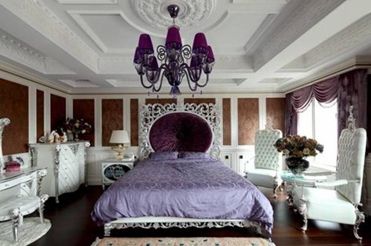 欧式主卧背景墙吊顶图片,欧式卧室椅子图片