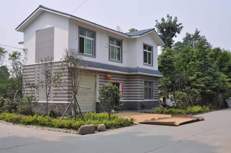 现代风格农村住房设计装修户外效果图