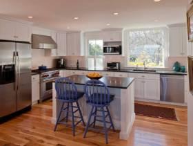 简约风格小面积厨房装修图片-简约风格橱柜图片