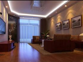 128㎡三居室现代简约风格客厅背景墙装修效果图-现代简约风格边几图片